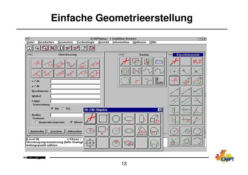 Einfache Geometrieerstellung