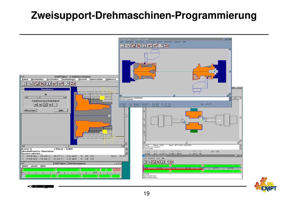 Zweisupport-Drehmaschinen-Programmierung