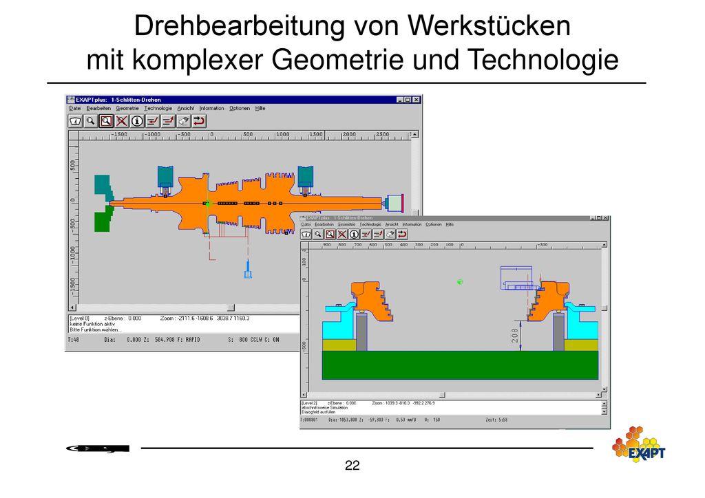 Drehbearbeitung von Werkstücken mit komplexer Geometrie und Technologie