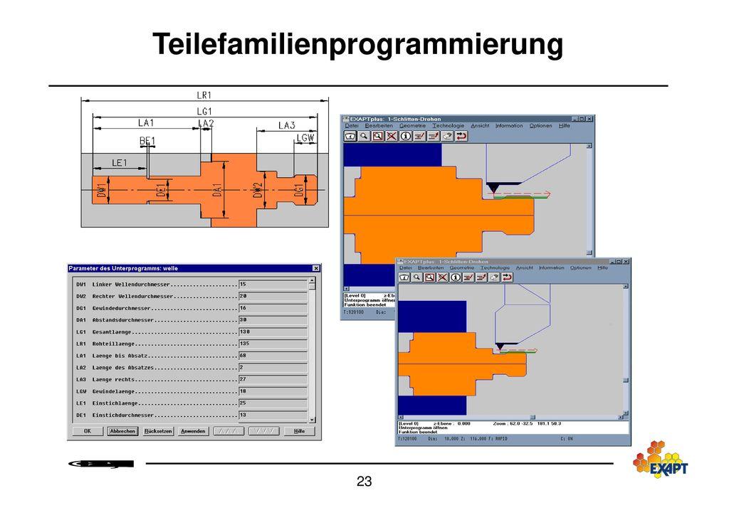 Teilefamilienprogrammierung