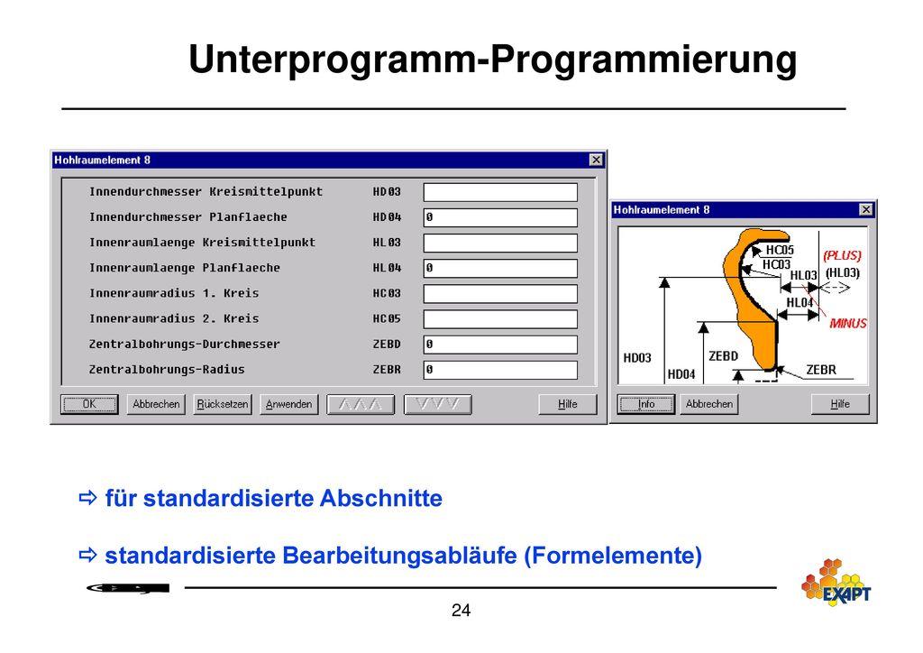 Unterprogramm-Programmierung