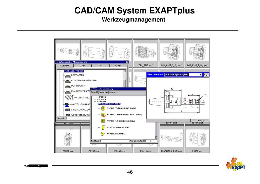 EXAPT-Produktionsdatenmanagement