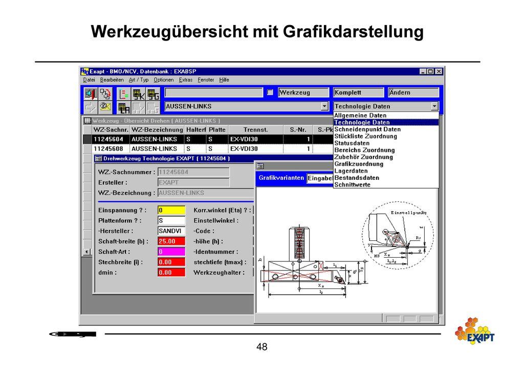 CAD/CAM System EXAPTplus Werkzeugmanagement