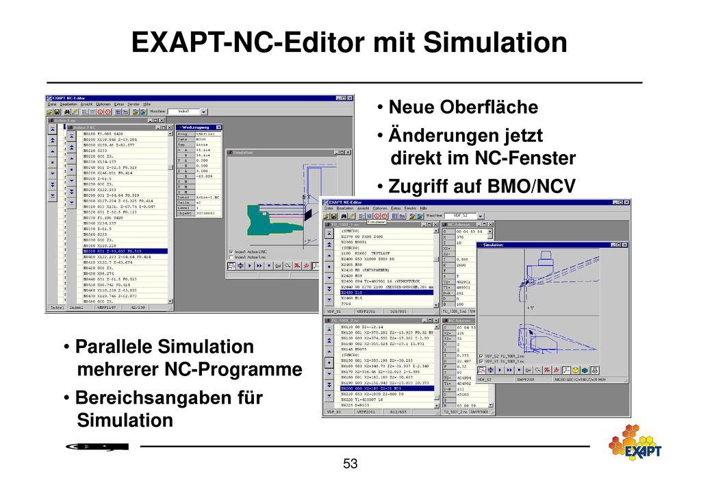Teile-/ NC-Programmmverwaltung mit EXAPT-FDO