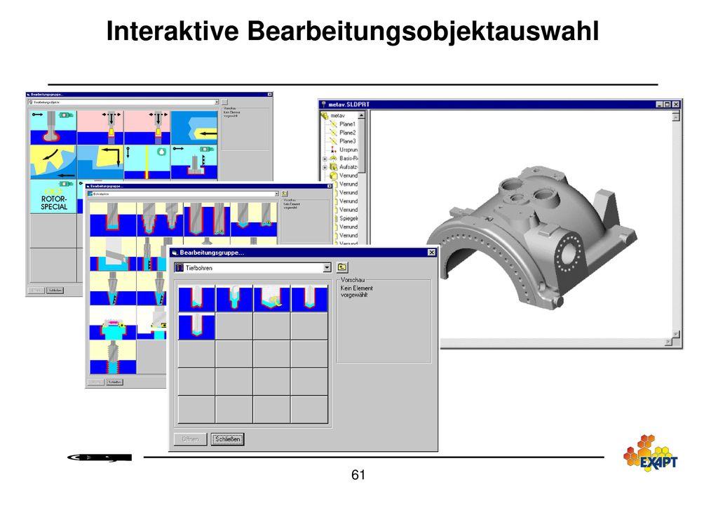 EXAPT CAD-CAM-Integration Systemarchitektur