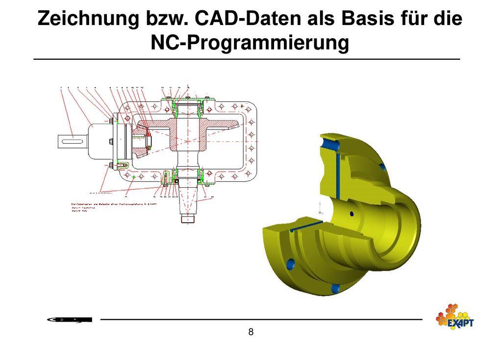 Zeichnung bzw. CAD-Daten als Basis für die NC-Programmierung