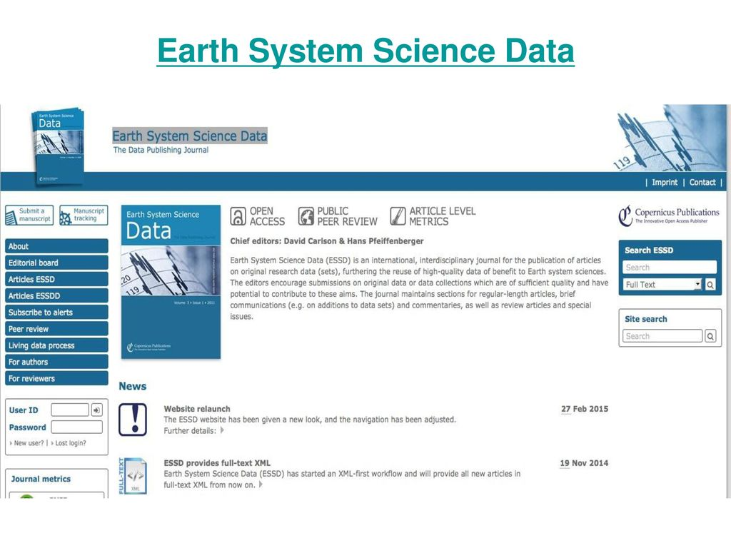 Earth System Science Data
