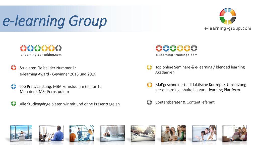 e-learning Group Studieren Sie bei der Nummer 1: