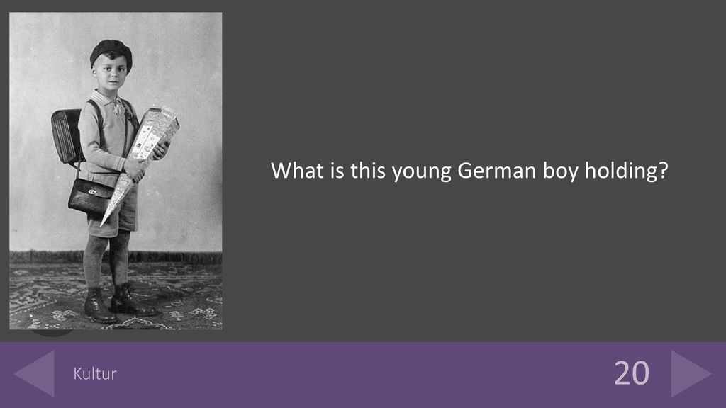 What is this young German boy holding