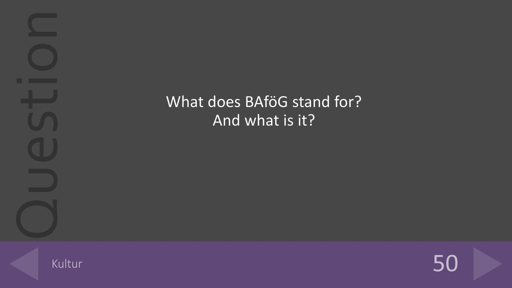 What does BAföG stand for