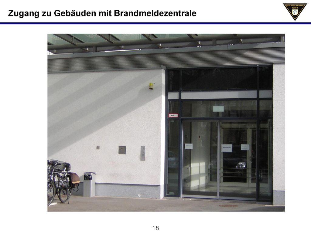 Zugang zu Gebäuden mit Brandmeldezentrale