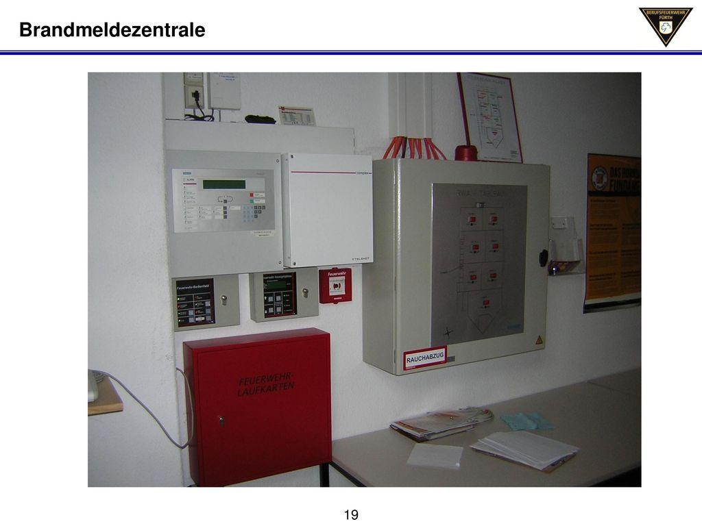 Brandmeldezentrale Schleifenlaufkarten; Auslöseeinrichtung von Brandfallsteuerungen
