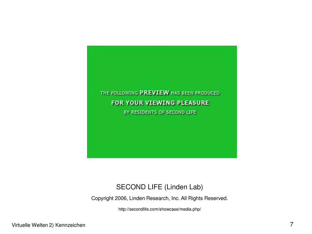 SECOND LIFE (Linden Lab)