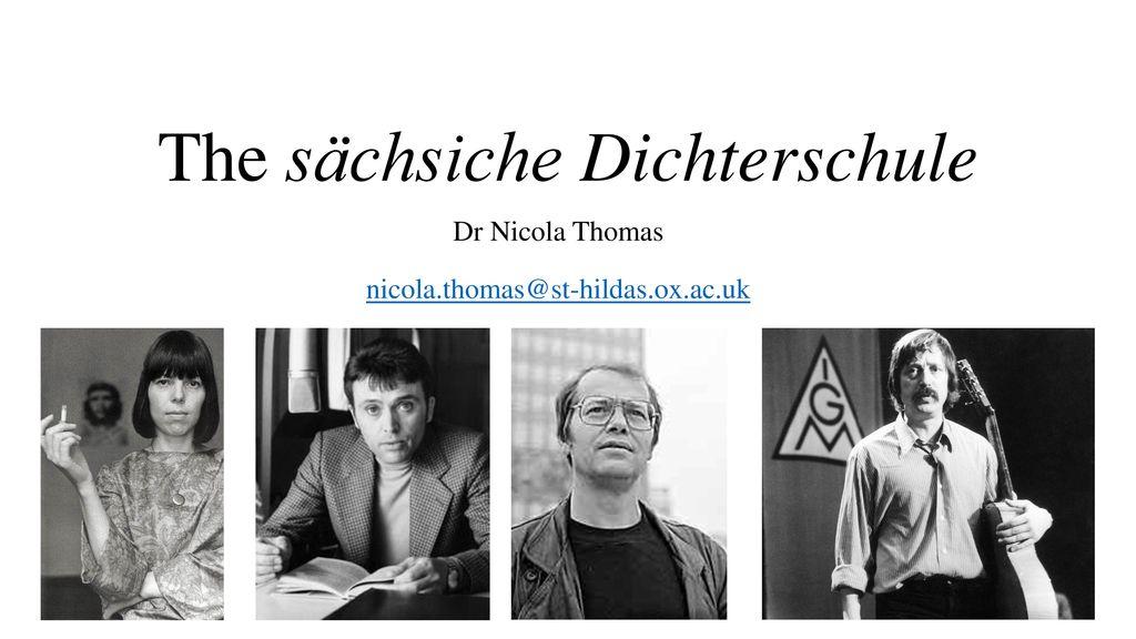 The sächsiche Dichterschule