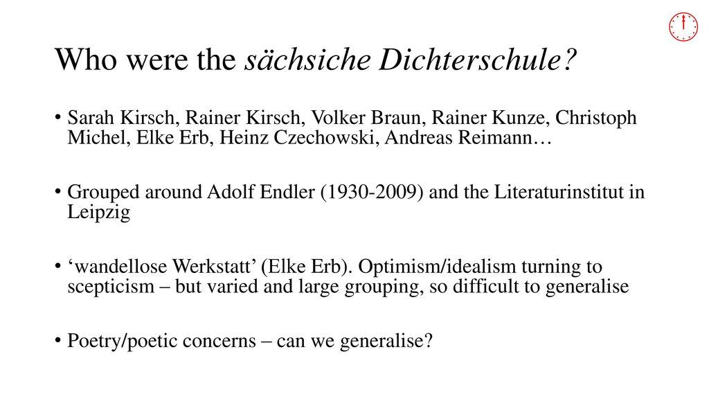 Who were the sächsiche Dichterschule