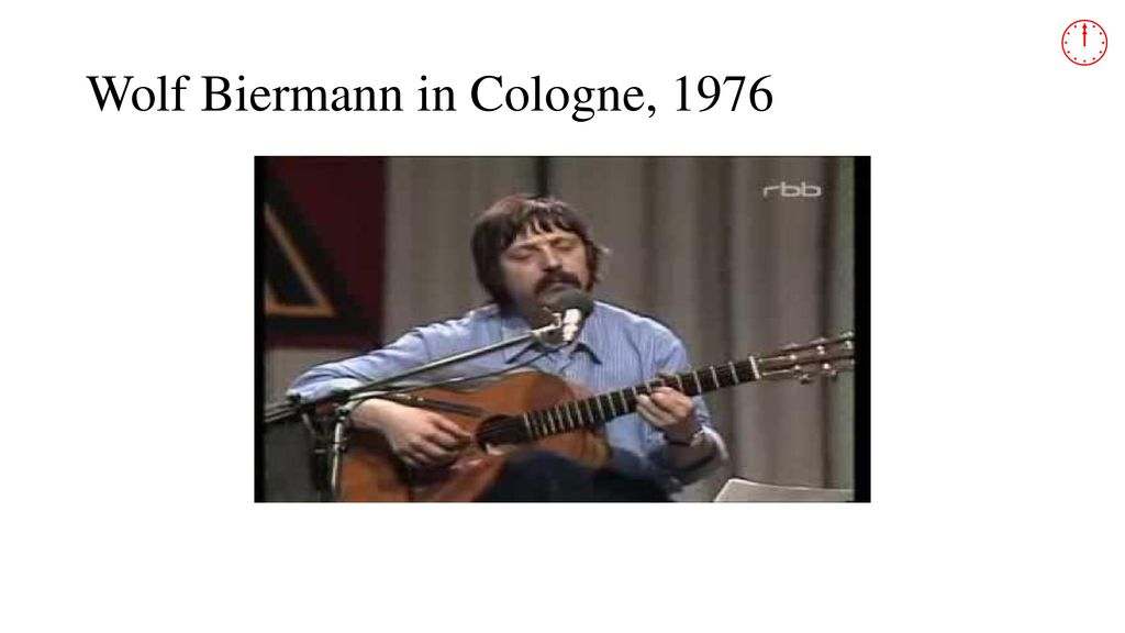 Wolf Biermann in Cologne, 1976