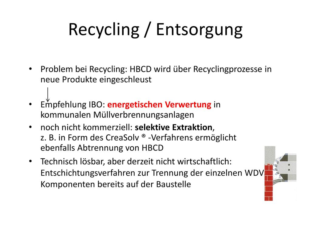 Recycling / Entsorgung