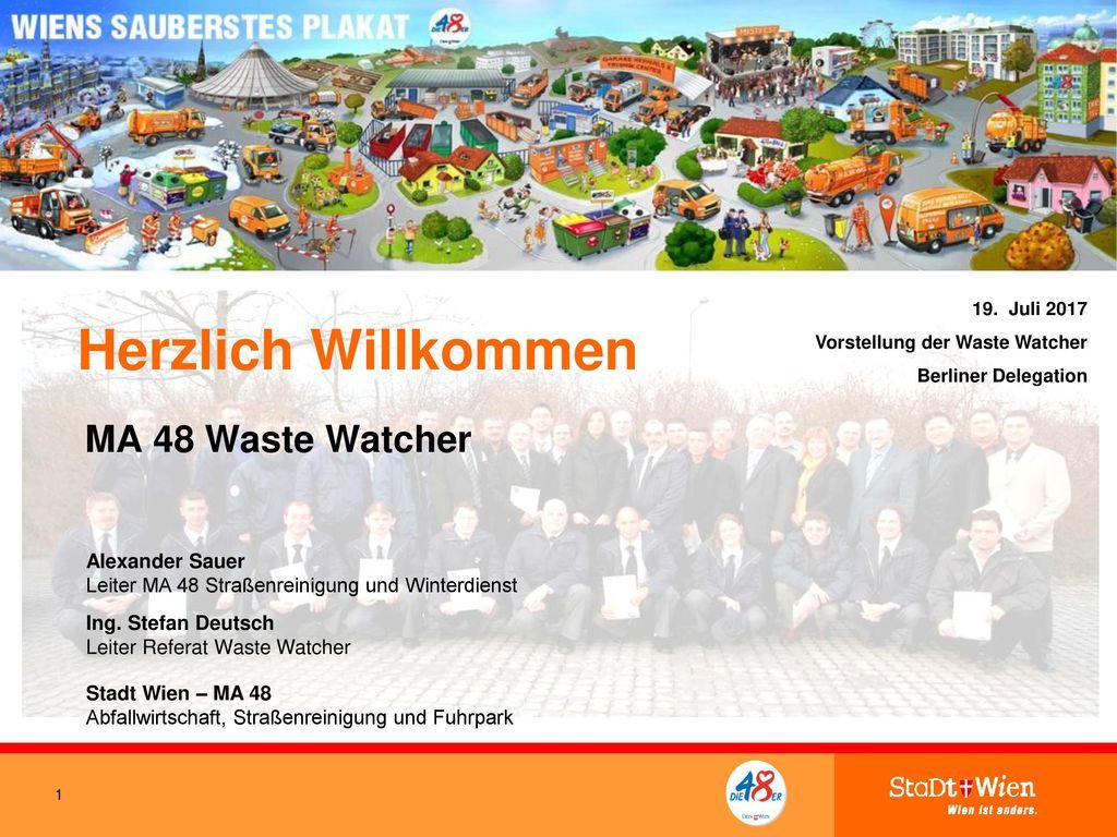 Herzlich Willkommen MA 48 Waste Watcher