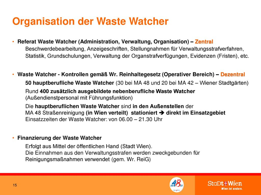 Organisation der Waste Watcher