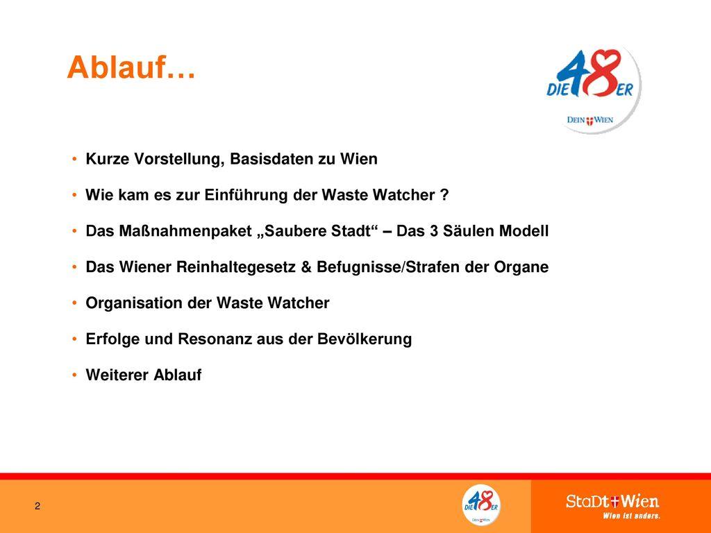 Ablauf… Kurze Vorstellung, Basisdaten zu Wien