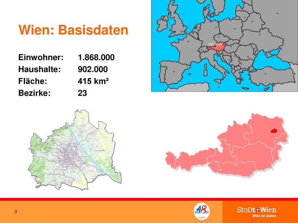 Wien: Basisdaten Einwohner: 1.868.000 Haushalte: 902.000