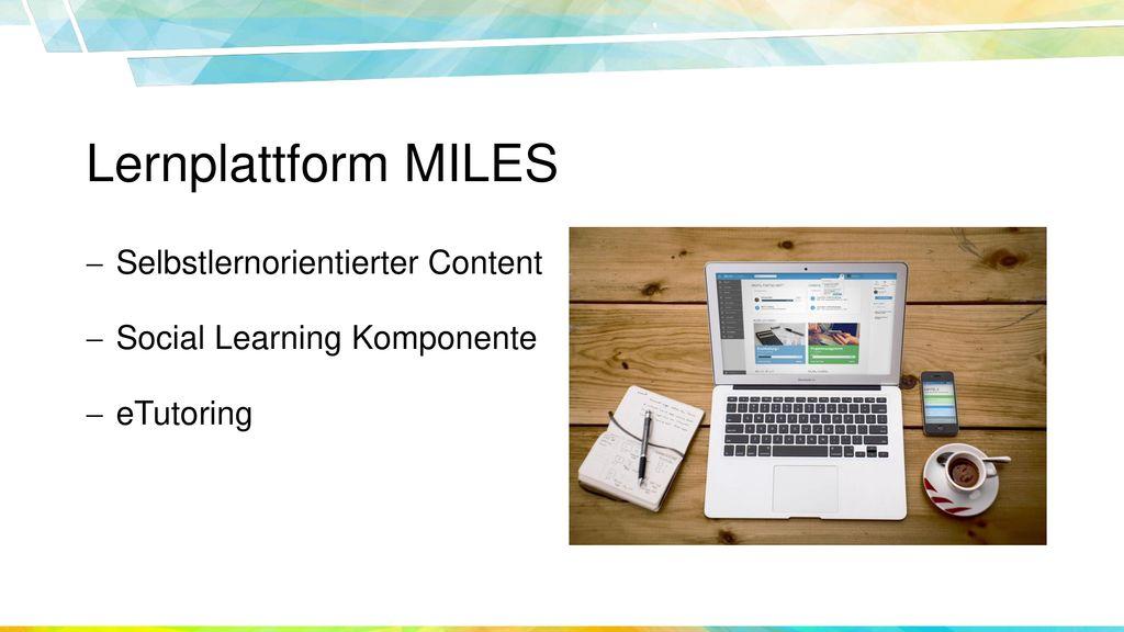 Lernplattform MILES Selbstlernorientierter Content