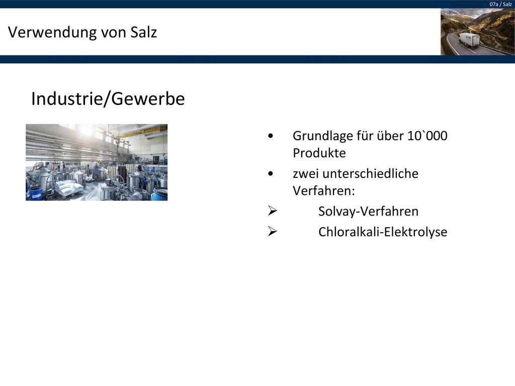 Industrie/Gewerbe Verwendung von Salz
