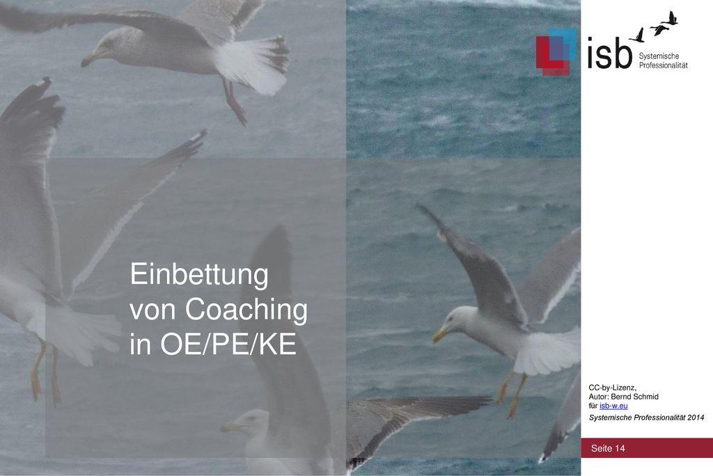 Einbettung von Coaching in OE/PE/KE