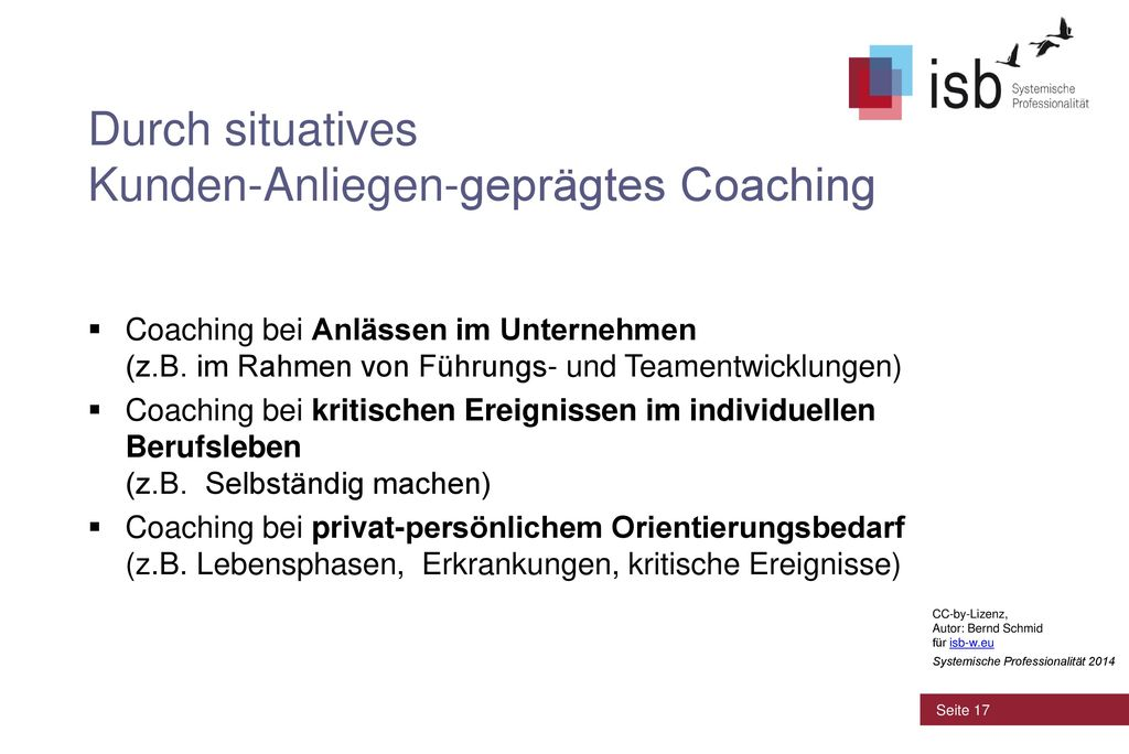 Durch situatives Kunden-Anliegen-geprägtes Coaching