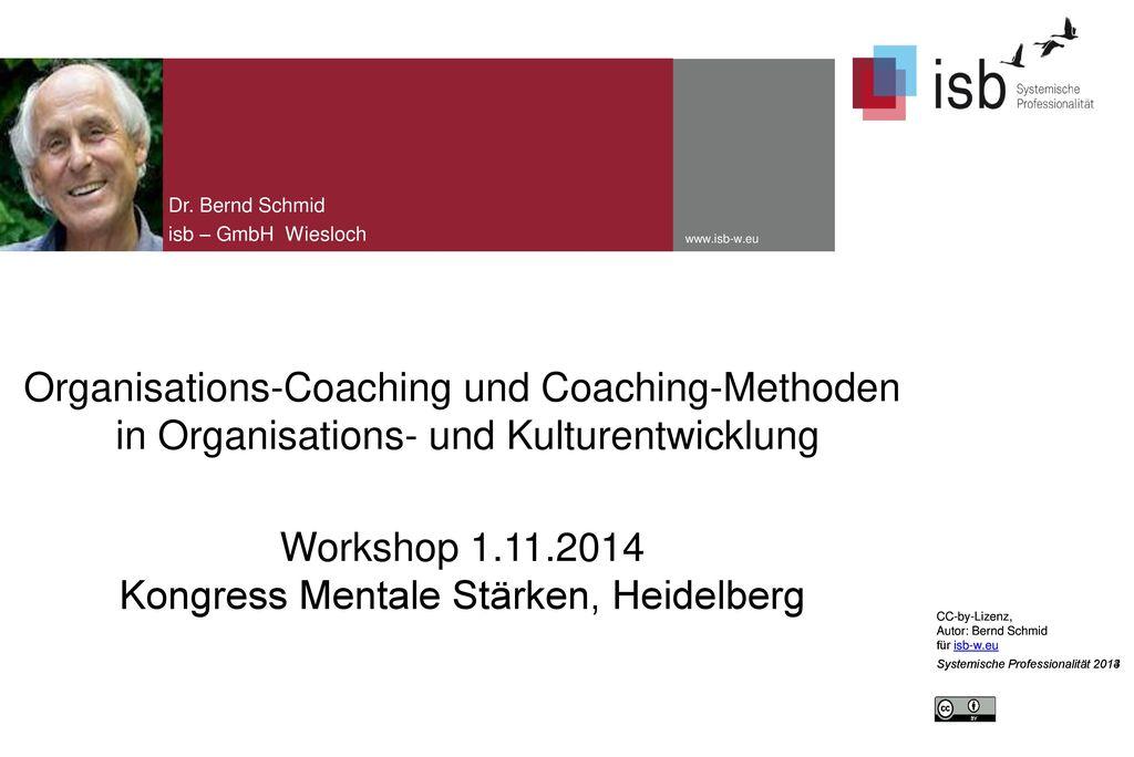 Dr. Bernd Schmid isb – GmbH Wiesloch