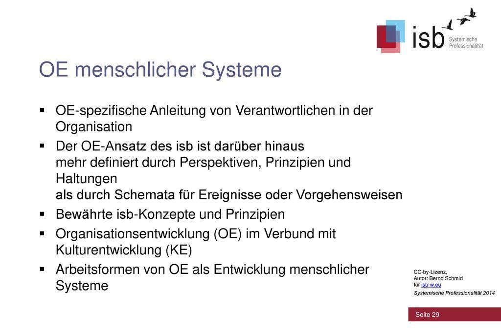 OE menschlicher Systeme