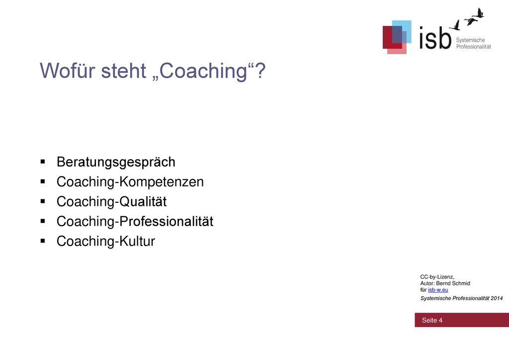 """Wofür steht """"Coaching"""