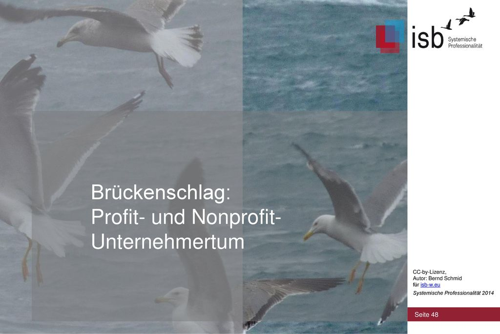 Brückenschlag: Profit- und Nonprofit- Unternehmertum