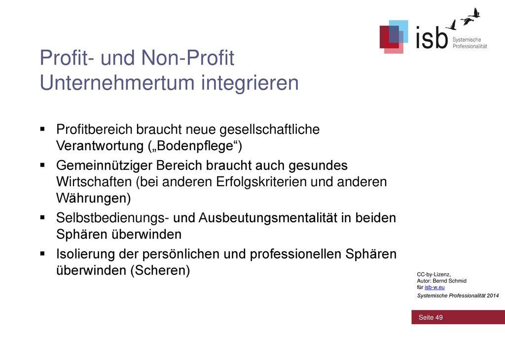Profit- und Non-Profit Unternehmertum integrieren