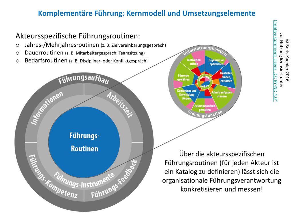 Komplementäre Führung: Kernmodell und Umsetzungselemente