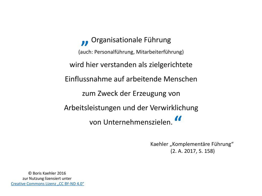 """"""" Organisationale Führung"""
