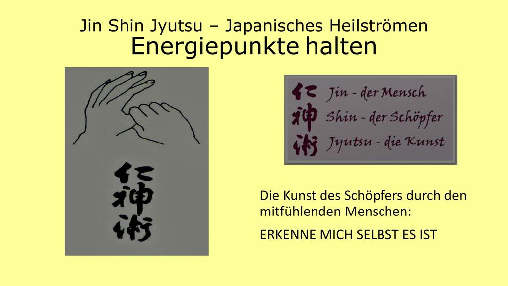 Jin Shin Jyutsu – Japanisches Heilströmen Energiepunkte halten