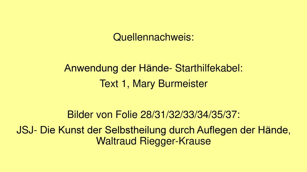 Anwendung der Hände- Starthilfekabel: Text 1, Mary Burmeister