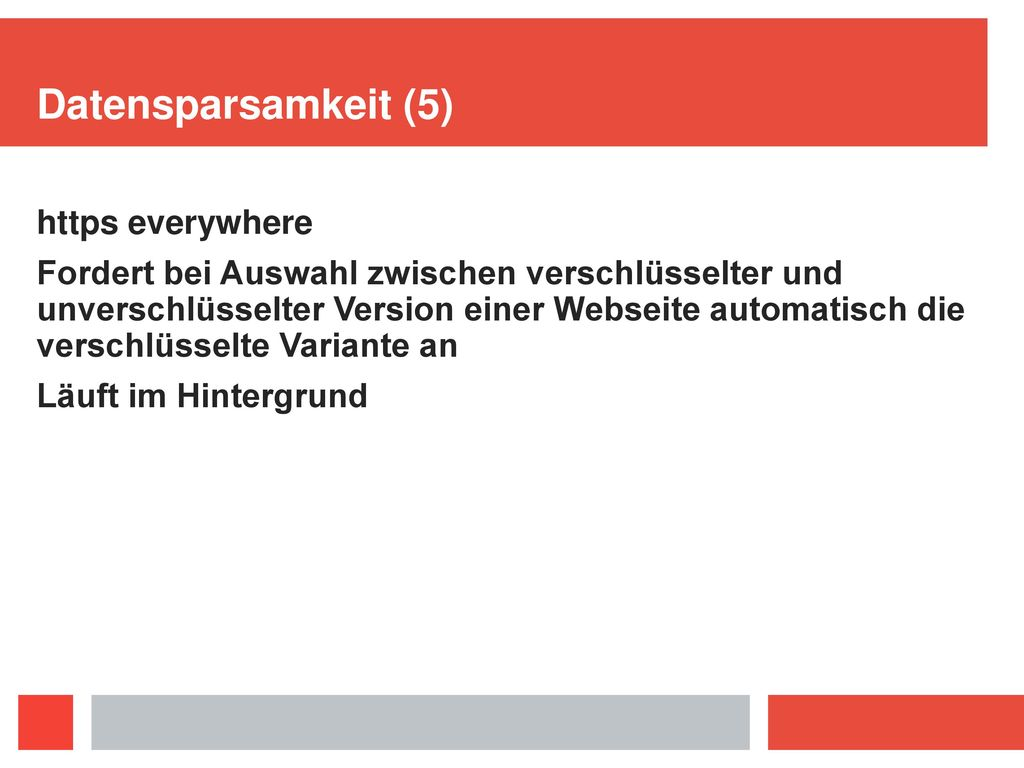 Datensparsamkeit (5) https everywhere