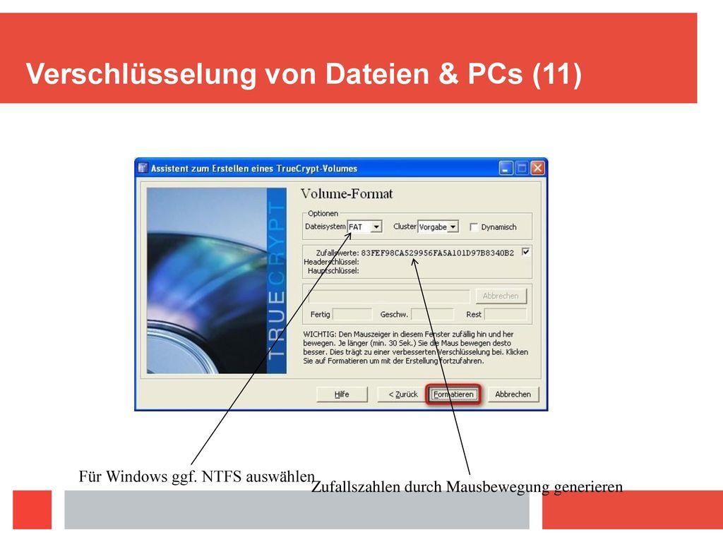 Verschlüsselung von Dateien & PCs (11)