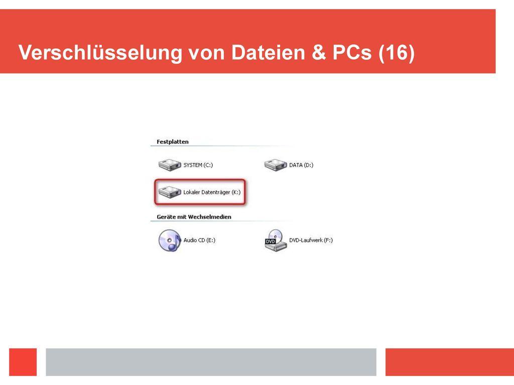 Verschlüsselung von Dateien & PCs (16)