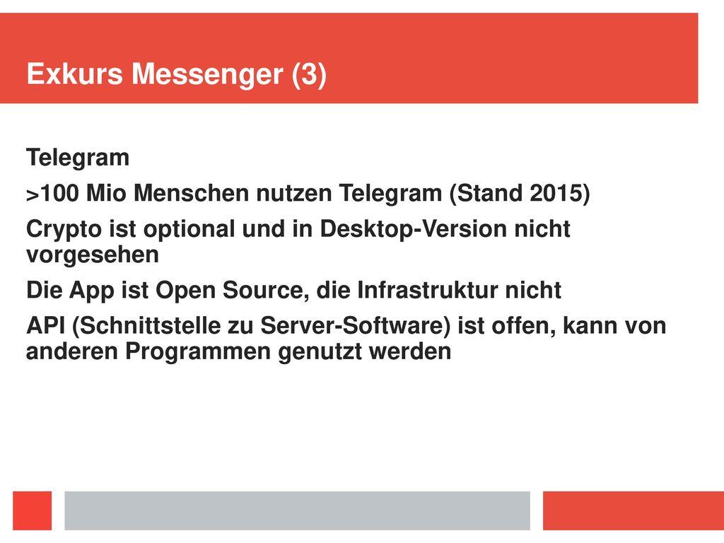 Exkurs Messenger Whatsapp