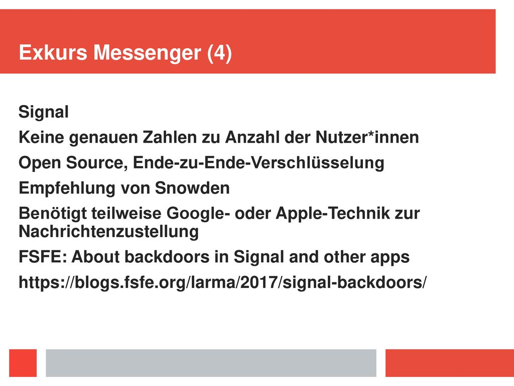 Exkurs Messenger (3) Telegram
