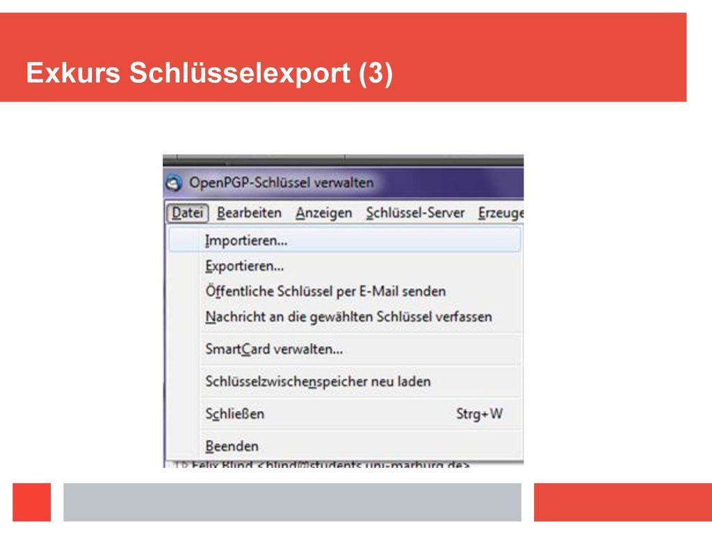 Exkurs Schlüsselexport (3)