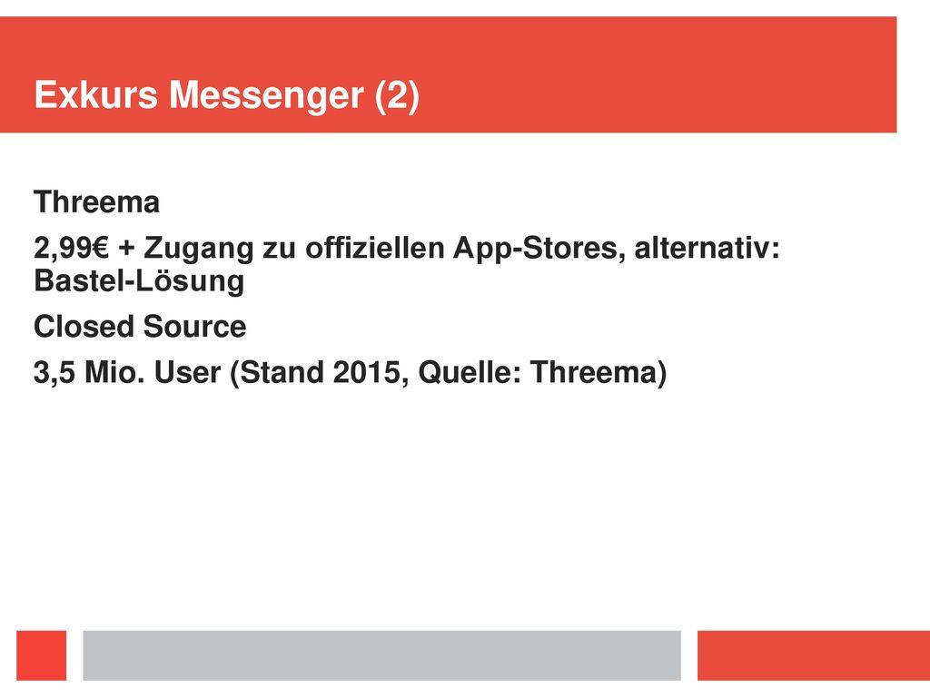 Exkurs Messenger (2) Threema