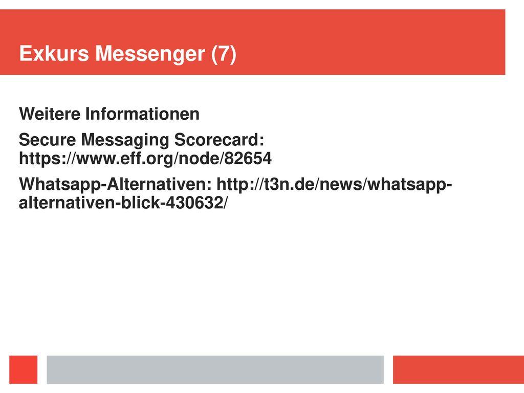 Exkurs Messenger (7) Weitere Informationen