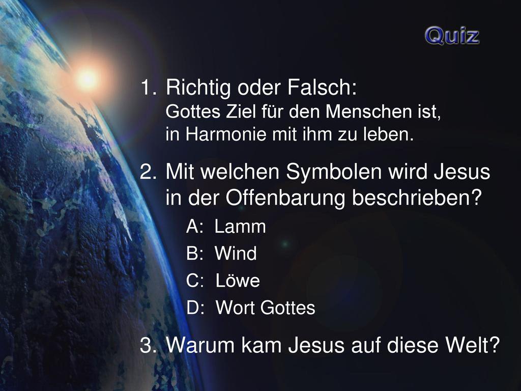 Mit welchen Symbolen wird Jesus in der Offenbarung beschrieben