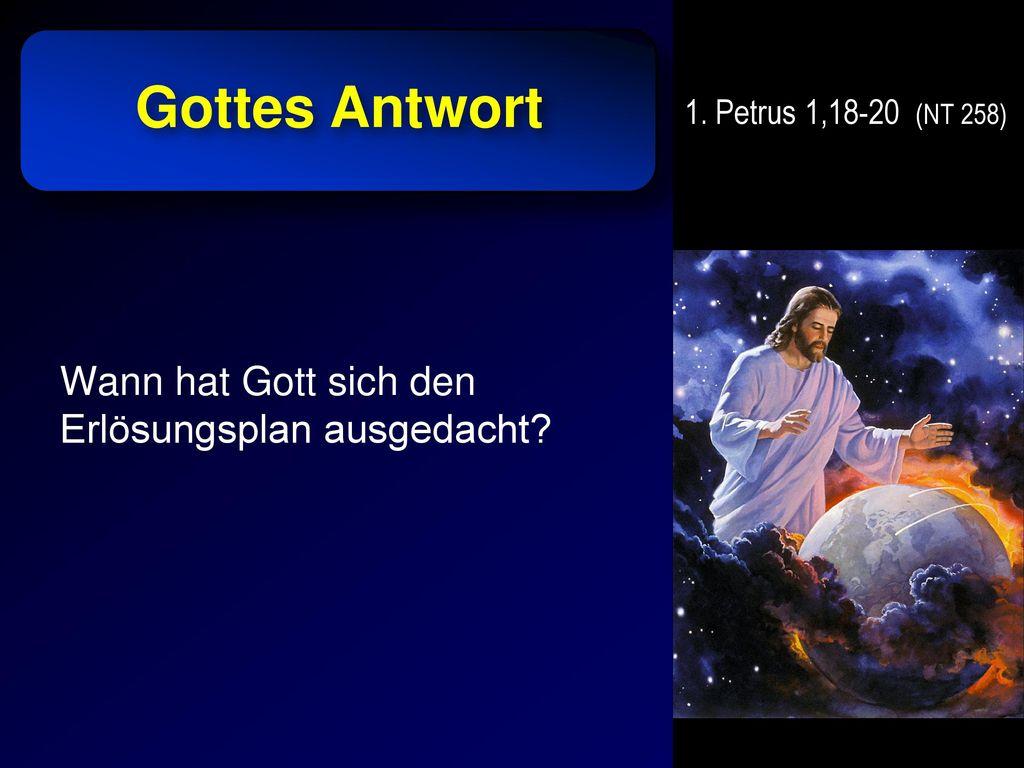 Gottes Antwort Wann hat Gott sich den Erlösungsplan ausgedacht