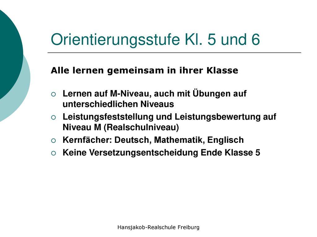 Orientierungsstufe Kl. 5 und 6