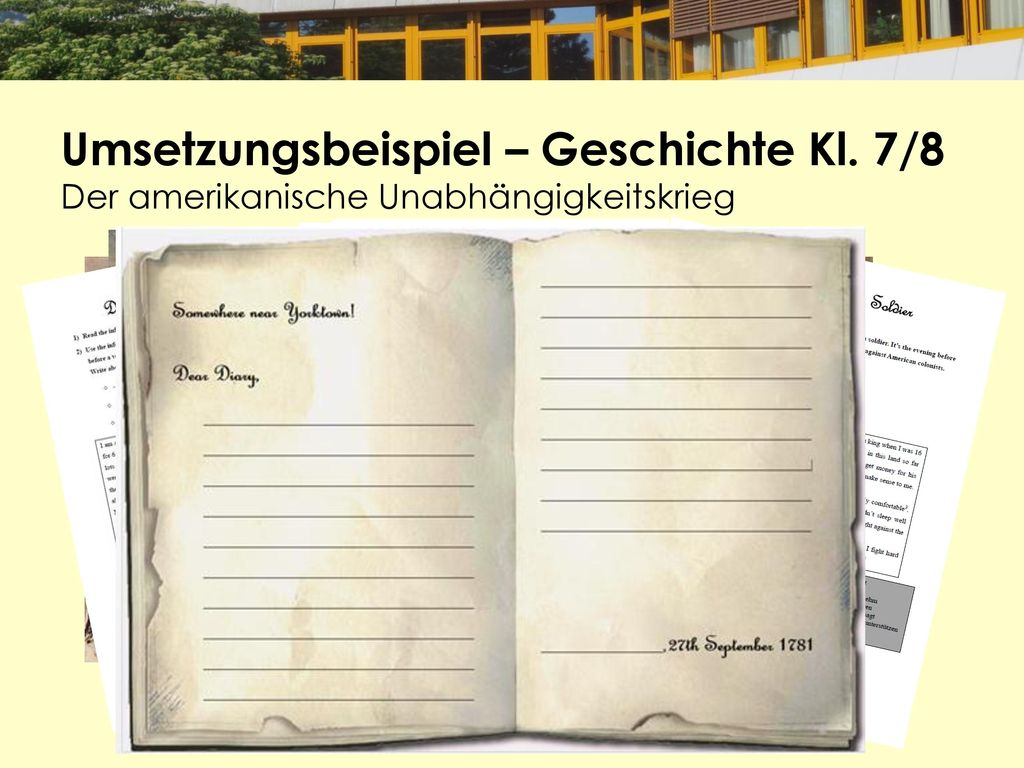 Umsetzungsbeispiel – Geschichte Kl. 7/8